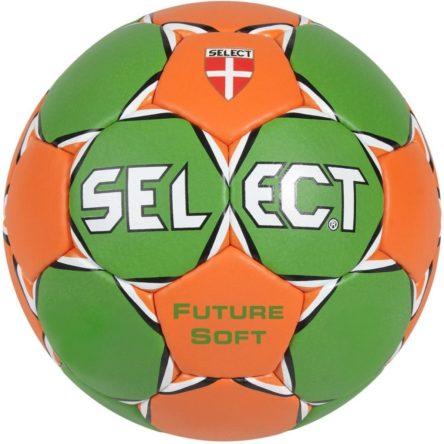Piłka ręczna Select Future Soft zielono-pomarańczowa