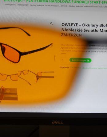A1. ZDROWY SEN z OwlEye - Okulary Blokujące Światło Niebieskie